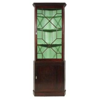 19th-C. George III Corner Cabinet