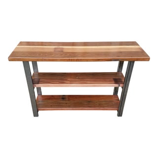 Reclaimed Redwood Console Table