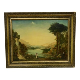 Antique English Oil Painting C.1850