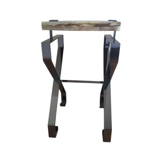 Century Furniture Onyx Top Side Table