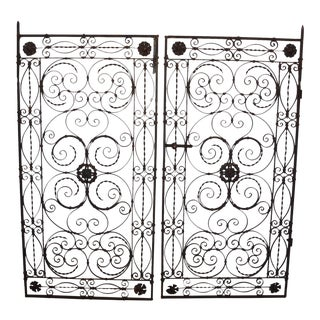 Antique Hand Wrought Iron Gates - A Pair