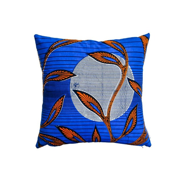 Rise & Shine Wax Print Pillow Cases - A Pair - Image 1 of 5
