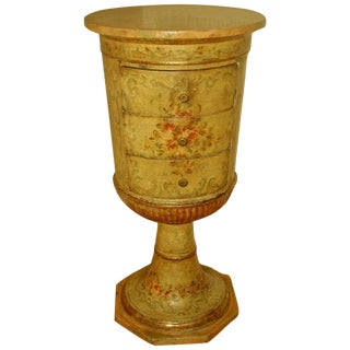 Picie Italian Hand Painted 19th C. Pedestal Table