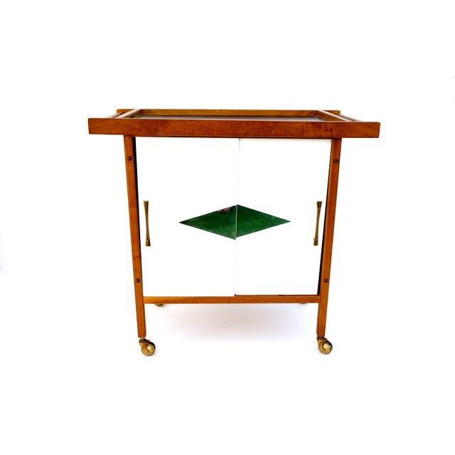 Image of Mid-Century Danish Modern Teak Bar Cart