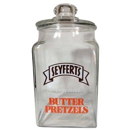 Vintage Seyfert's Original Butter Pretzel Jar - Image 1 of 3