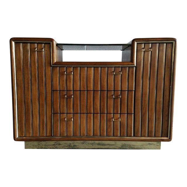 Walnut & Brass Bar Cabinet - Image 1 of 4