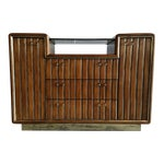 Image of Walnut & Brass Bar Cabinet