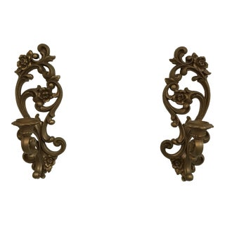 Vintage Homco Wall Sconces - a Pair