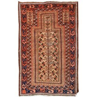 "1900s Handmade Antique Afghan Baluch Prayer Rug 2'9"" X 4'8"""