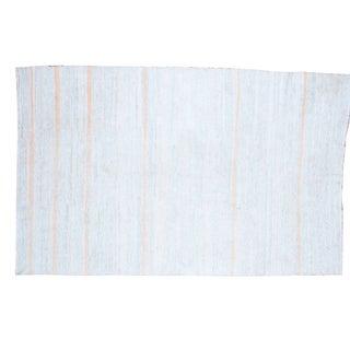 "Vintage Recycled Linen Rag Rug Carpet - 5' 8"" x 9"""