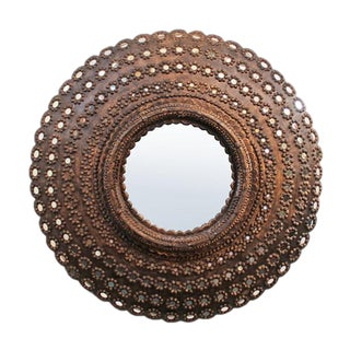 Round Peacock Mirror Frame