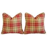 Image of Custom Scottish Balmoral Plaid Pillows - A Pair