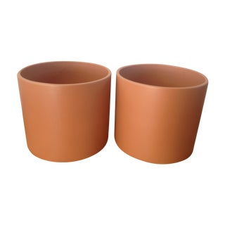 X-Large Midcentury Gainey Ceramics Planters - Pair