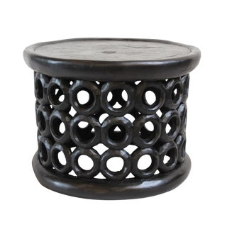 Bamileke Circle Design Stool
