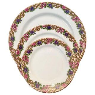 French Limoge Porcelain Art Deco Dinnerware