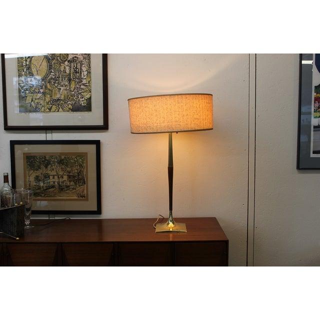 Mid-Century Modern Laurel Wishbone Lamp - Image 7 of 9