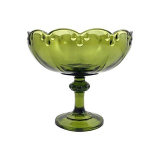 1930s Green Glass Compote