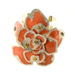 Image of Large Valentino Enamel Flower Cuff Bracelet