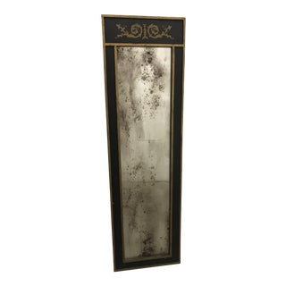 Chapman Black Distressed Mirror