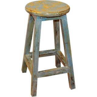 Indonesian Wooden Bar Stool