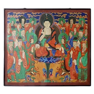 Large 19th Century Painting of Buddha Amitabha