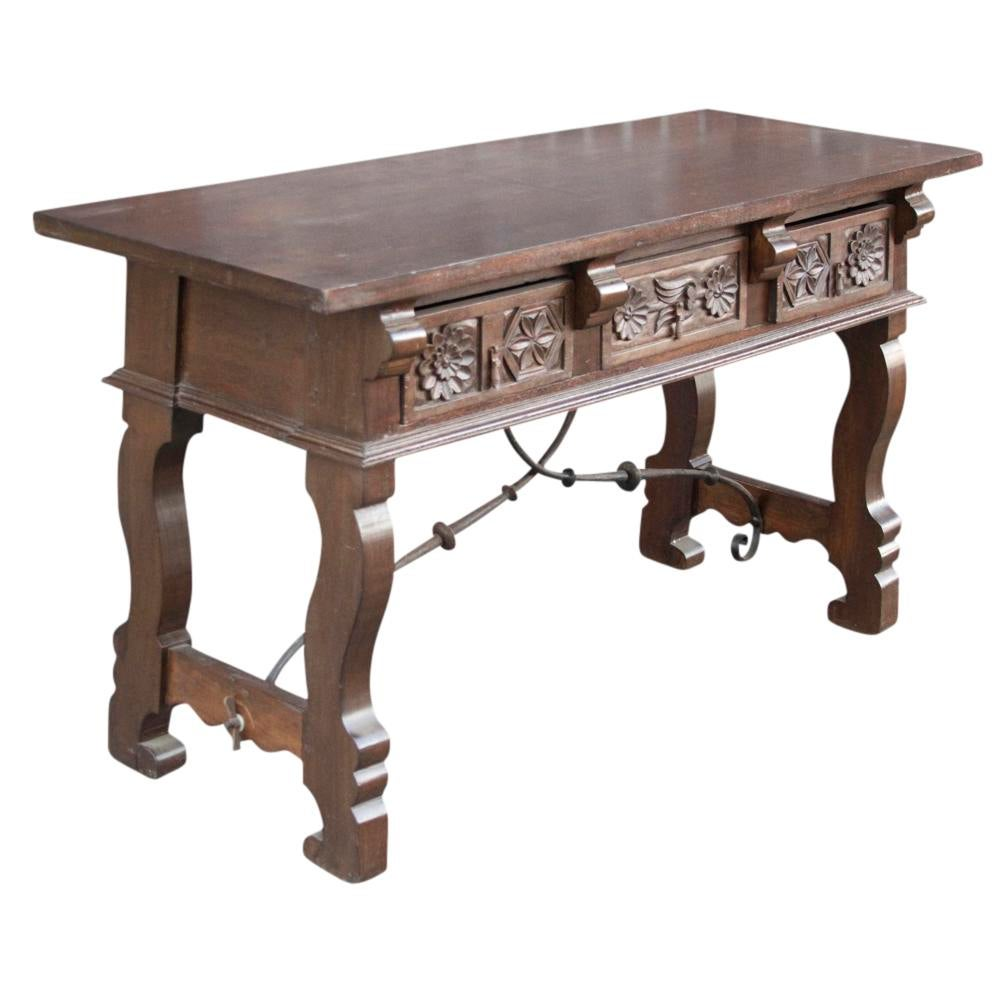 Marvelous Spanish Colonial Style Console Table   Image 4 Of 8