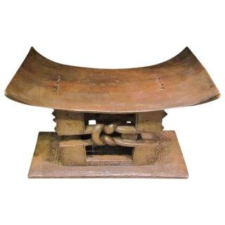 African Ashanti Wood Stool, Ghana, 1920s