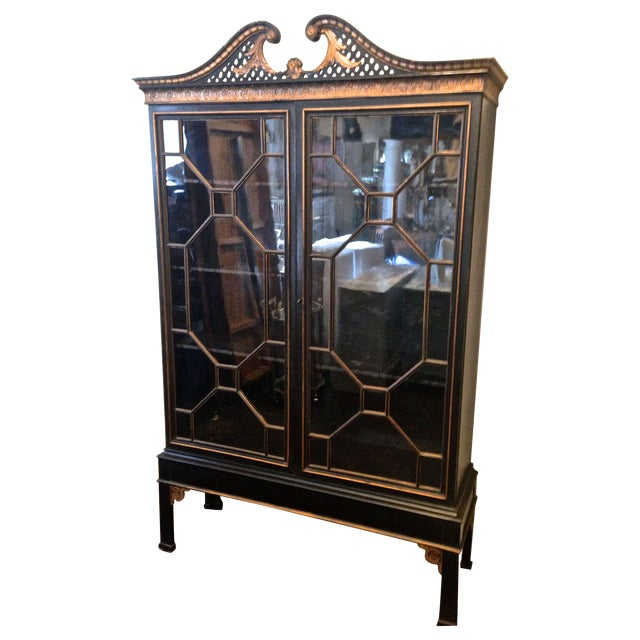 Image of Antique Chinese Chippendale Cabinet