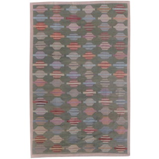 "Hand-Knotted Modern Kilim by Aara Rugs - 17'6"" x 11'10"""