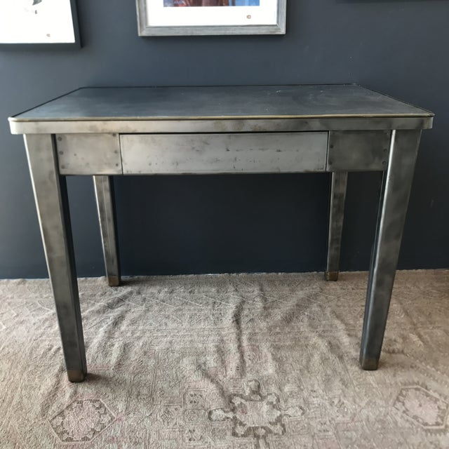 Vintage Industrial Metal Desk - Image 2 of 8