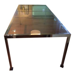 Milo Baughman for Thayer Coggin Chrome & Steel Dining Table