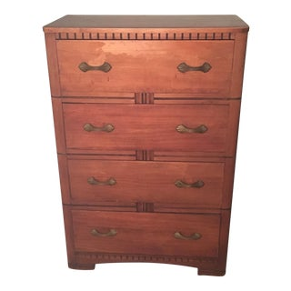 Vintage Art Deco 4 Drawer Dresser