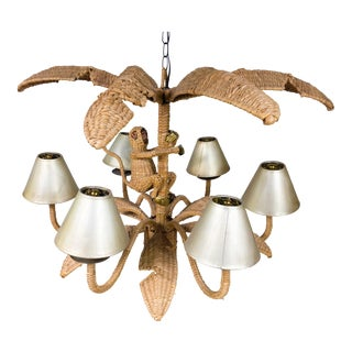 Mario Torres Monkey Wicker Chandelier