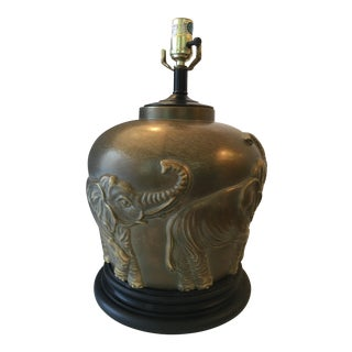 Brass Elephant Table Lamp