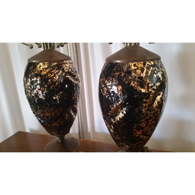 Mid-Century Abstract Lamps - a Pair - Image 6 of 6