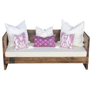 Modern Square Teak Club Sofa