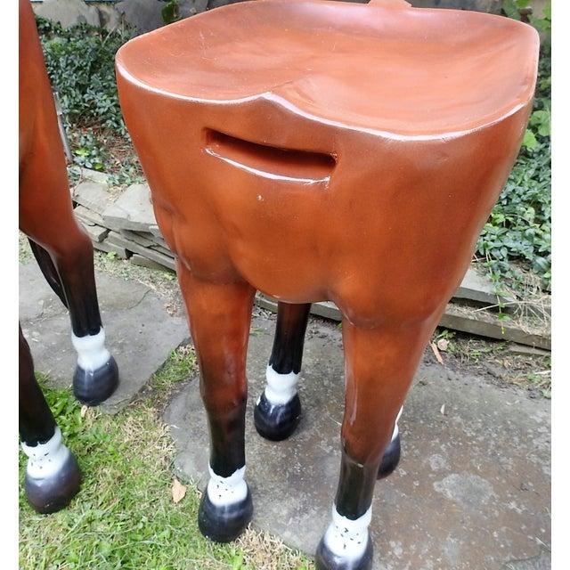 Horse-Shaped Bar Stools - Set of 3 - Image 4 of 6