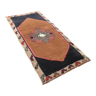 Antique Tribal Oushak Hand Knotted Turkish Rug - 1′6″ × 2′10″