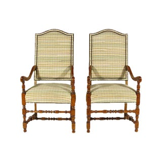 French Baroque Style Armchairs - A Pair