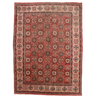 RugsinDallas Vintage Hand Knotted Wool Persian Mahal Rug - 9′3″ × 12′6″