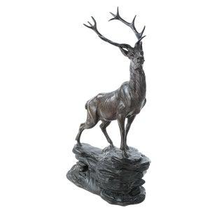 Regal Elk Cast Metal Sculpture
