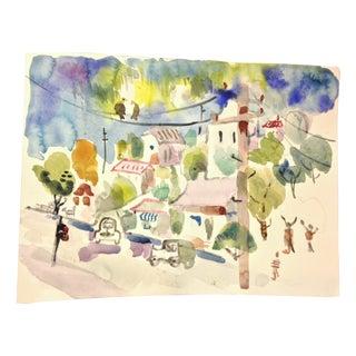 Reed Playful Street Scene Watercolor