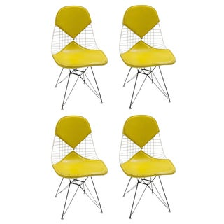 Eames DKR Yellow Bikini Chairs - Set of 4