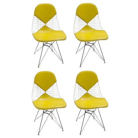 Image of Eames DKR Yellow Bikini Chairs - Set of 4