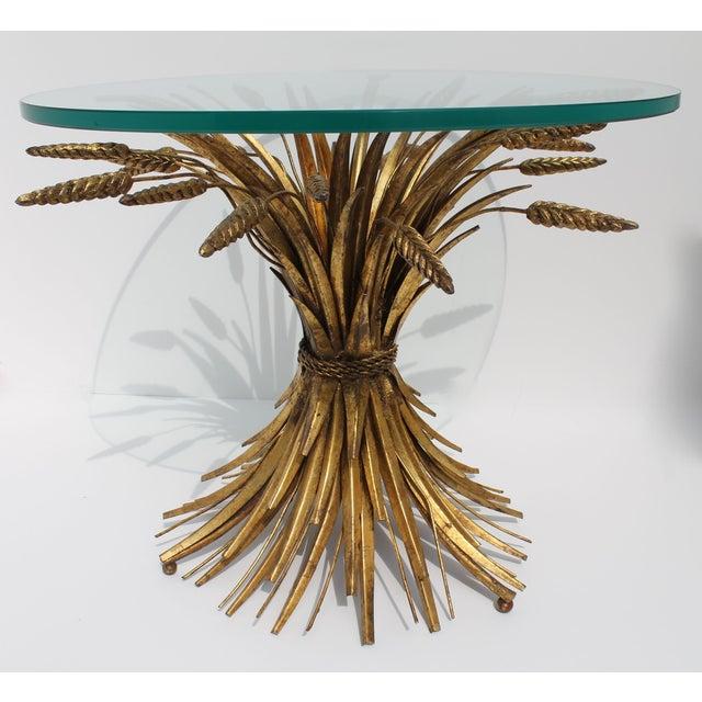 Image of Vintage Italian Gilt Wheat Sheaf Table