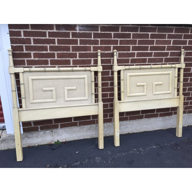 Dixie Shangri La Vintage Twin Headboards - A Pair - Image 2 of 4
