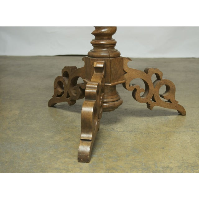 Monumental Italian Carved Oak Lectern Book Stand - Image 5 of 7