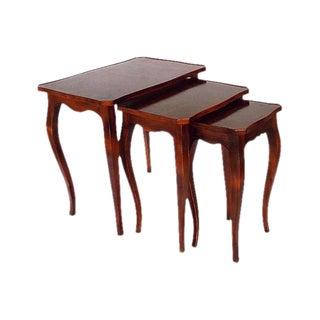 Italian Burlwood Nesting Tables - Set of 3