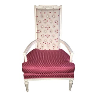 """""""Pretty in Pink"""" Tufted Antique Chair"""