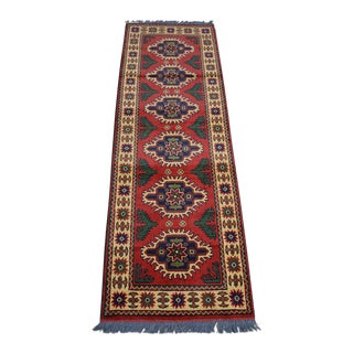 Beautiful Vintage Afghan Tribal Kargai Runner Rug - 2′2″ × 6′6″